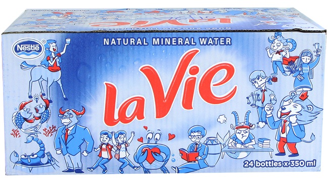 1 thùng nước Lavie bao nhiêu chai?