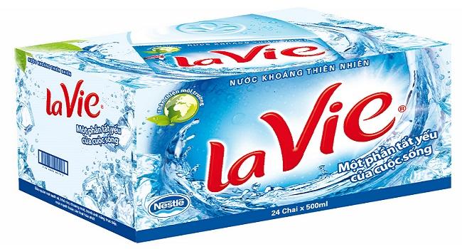 Thùng nước khoáng Lavie 500ml giá bao nhiêu tiền?