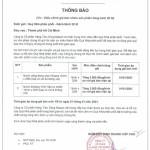 Thông báo thay đổi giá nước Vĩnh hảo